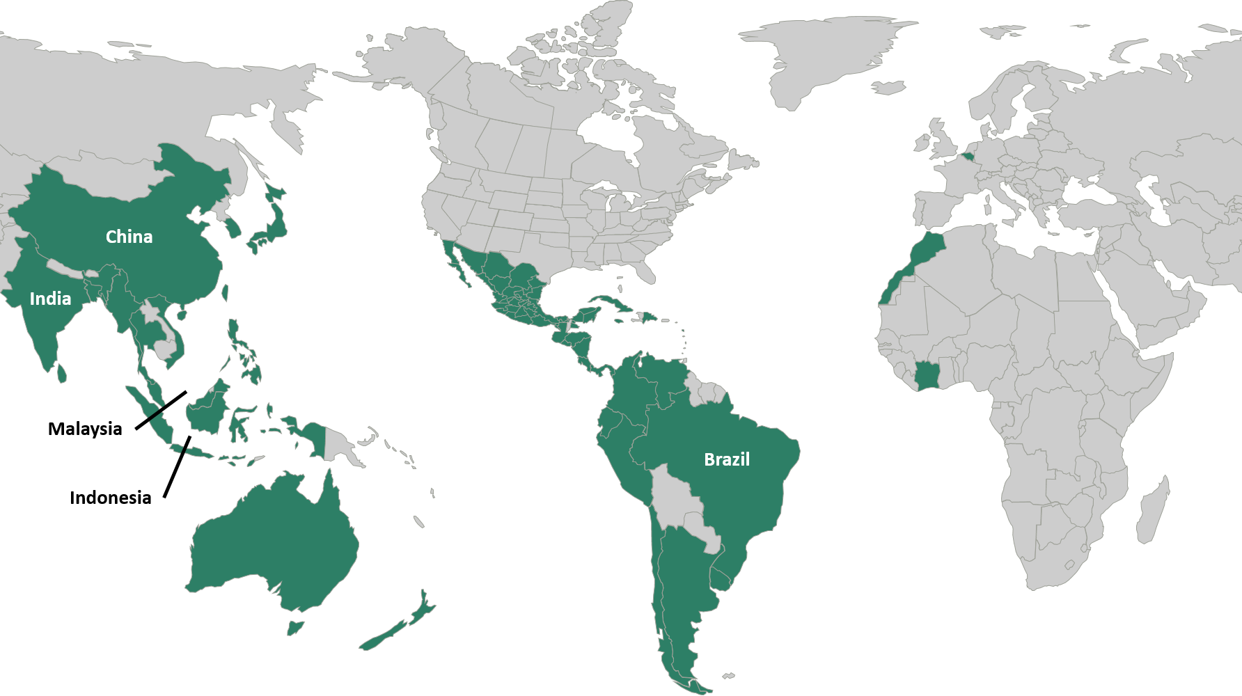 Canpotex Countries Map